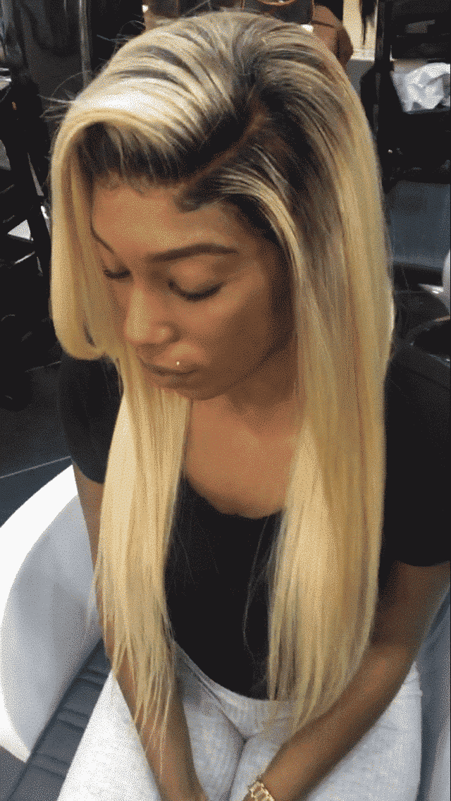 Lace Frontale Lisse Blond Avec Racines Dream Virgin Hair